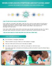 When Concussion Symptoms Are Not Going Away: Parent Guide of Children Who are School-age