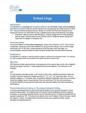School Lingo