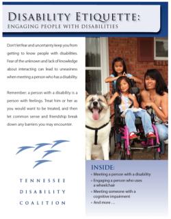 Disability Etiquette Front Page