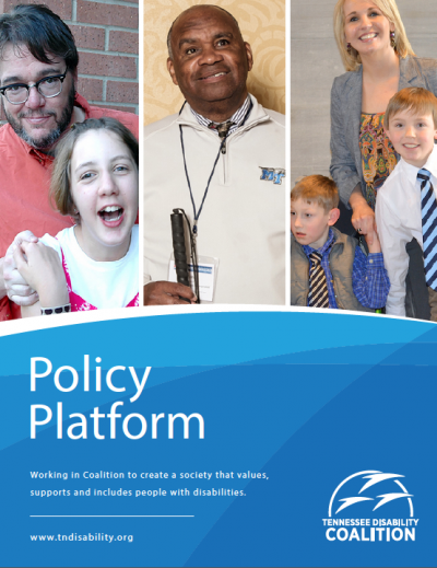 Cover image of policy platform document