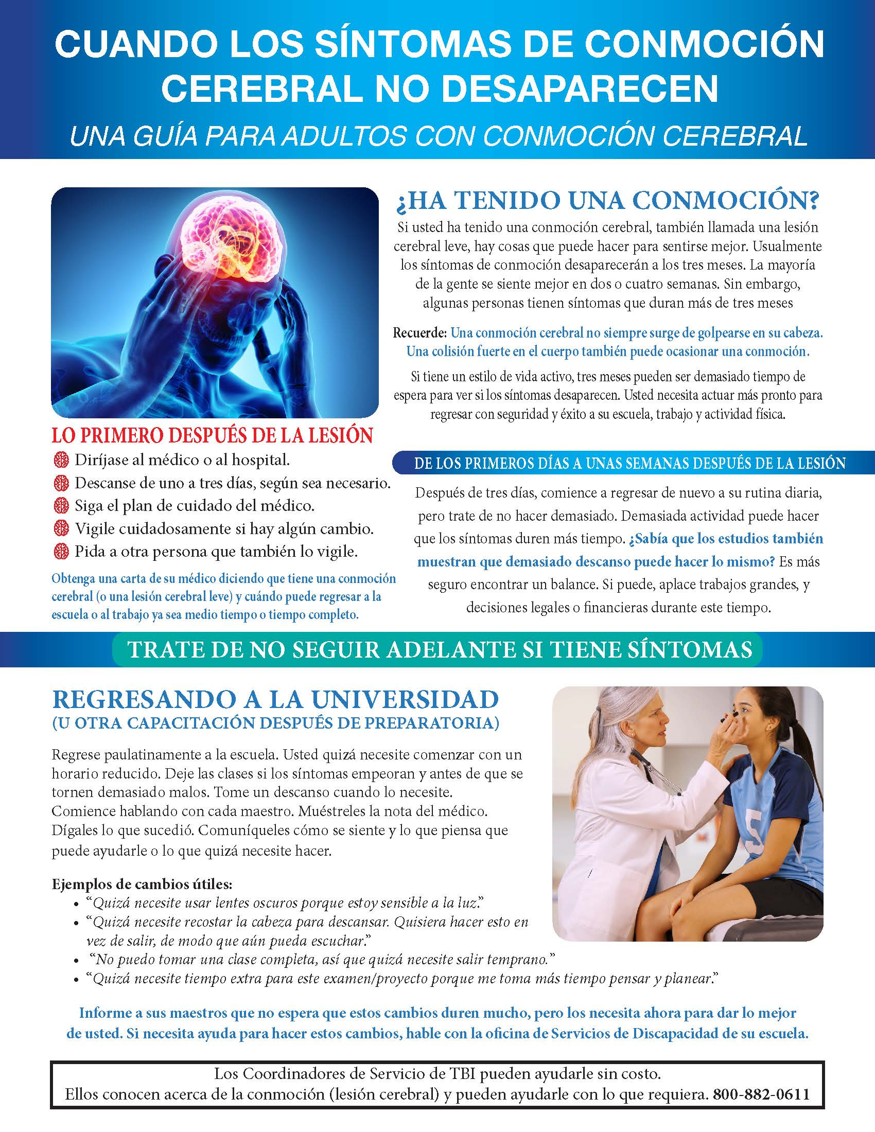 Spanish Adult Concussion Guide